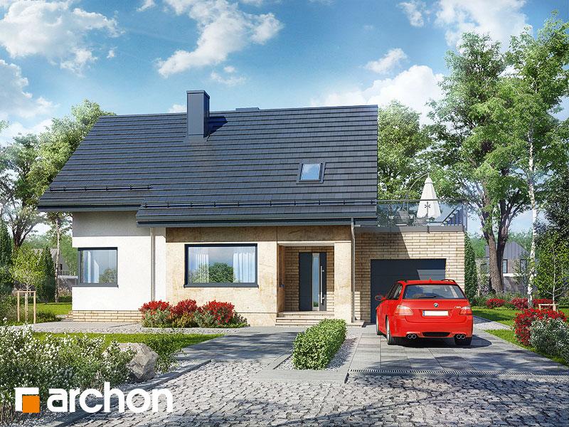 Проект дома ARCHON+ Дом в ариземах  стилизация 3