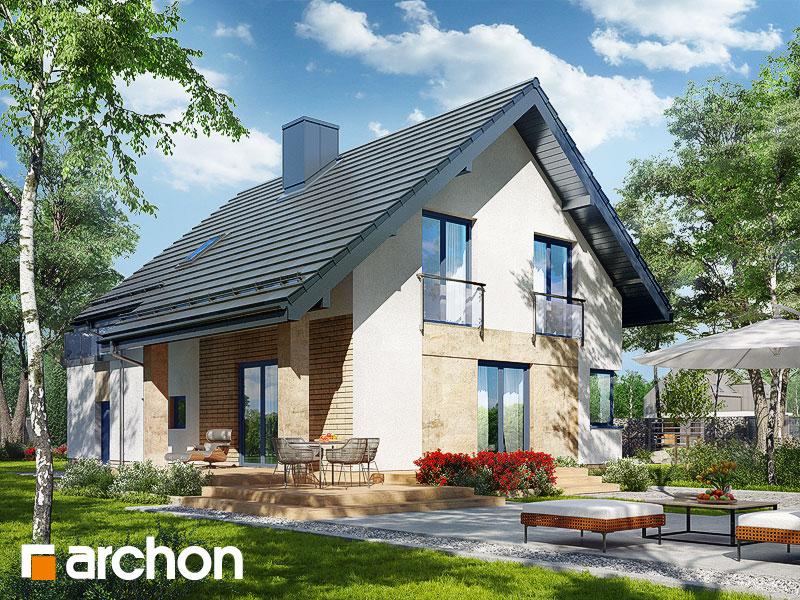 Проект дома ARCHON+ Дом в ариземах  стилизация 4