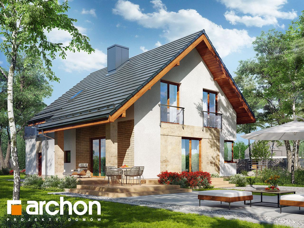 Проект дома ARCHON+ Дом в ариземах  Вид 2