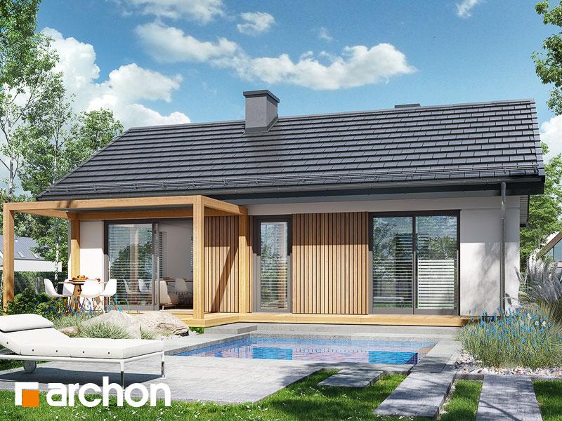 Проект дома ARCHON+ Дом в черешне 2 Вид 1