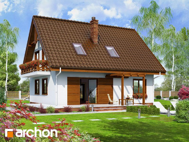 Проект будинку ARCHON+ Будинок в примулах (П) Вид 2