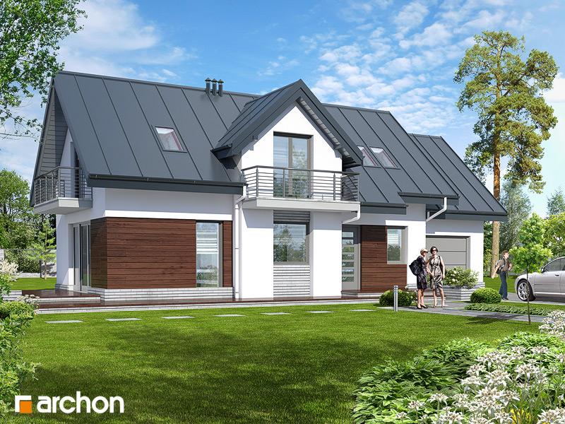 Проект будинку ARCHON+ Будинок в люпині стилізація 3