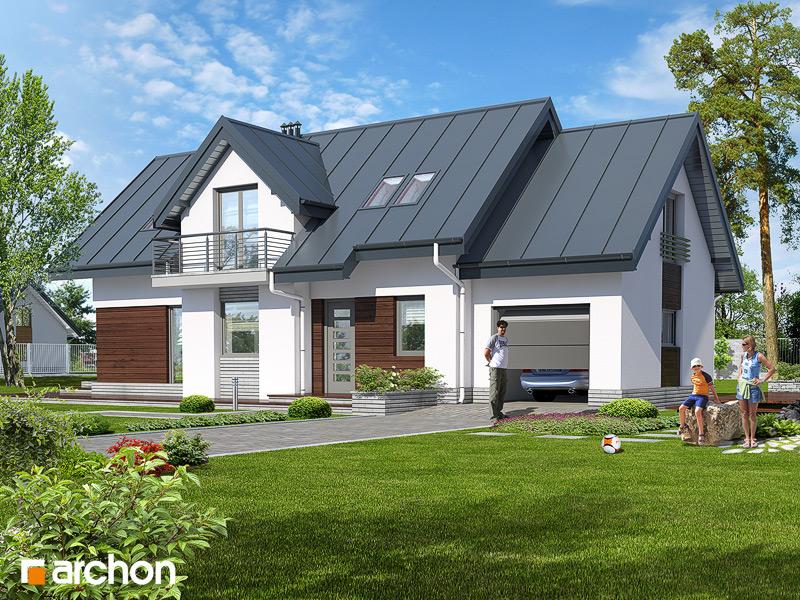 Проект будинку ARCHON+ Будинок в люпині стилізація 4
