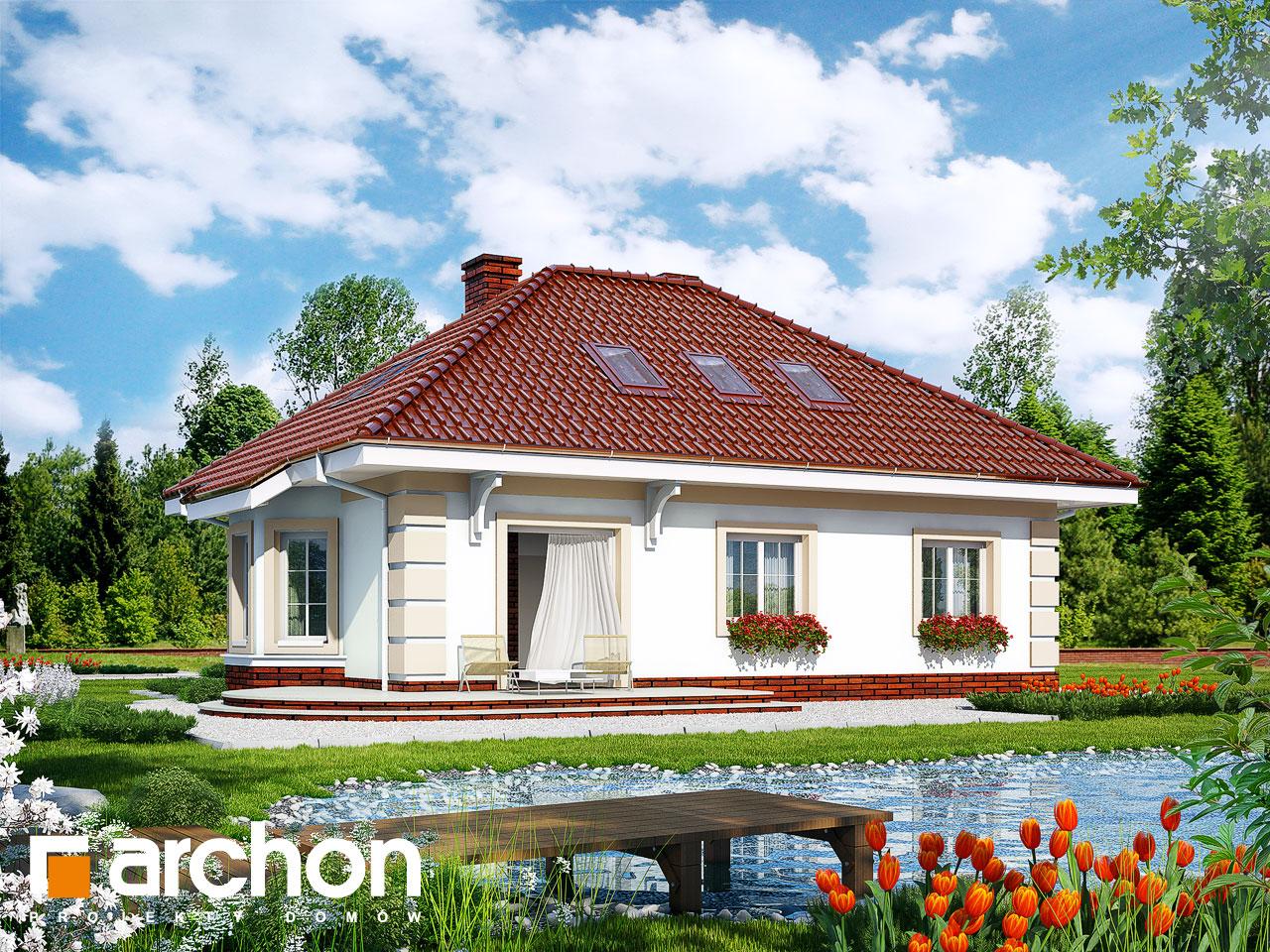Проект дома ARCHON+ Дом в ежевике 3 Вид 2