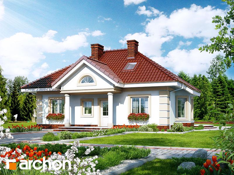 Проект дома ARCHON+ Дом в ежевике 3 Вид 1