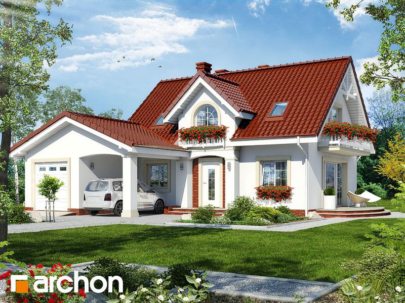 Проект будинку ARCHON+ Будинок в кориандрі 2 (Г) Вид 1