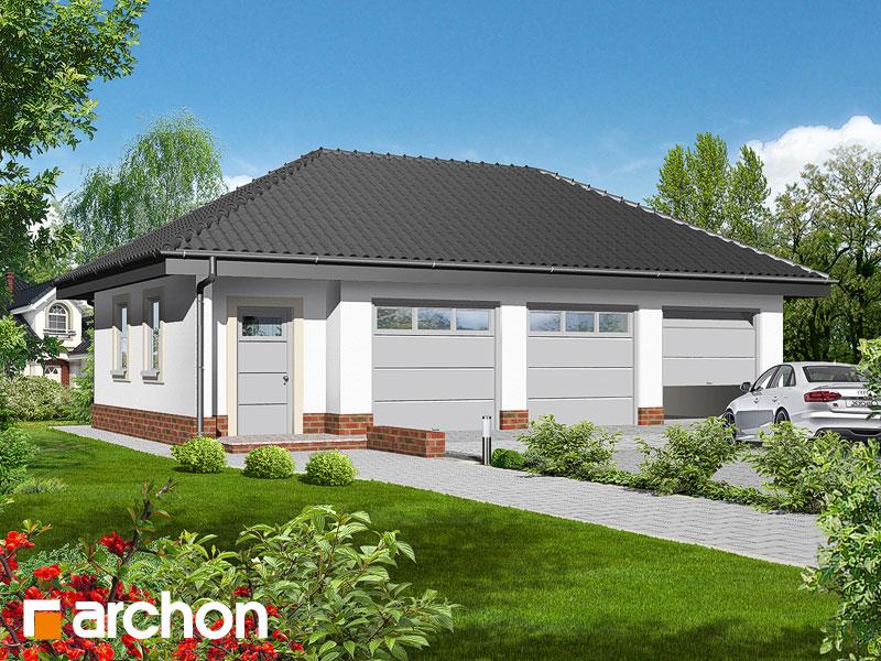 Проект дома ARCHON+ Г3a - Трехместный гараж ver.2 Вид 1