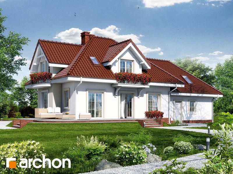 Проект будинку ARCHON+ Будинок у вербені (Г2П) Вид 2