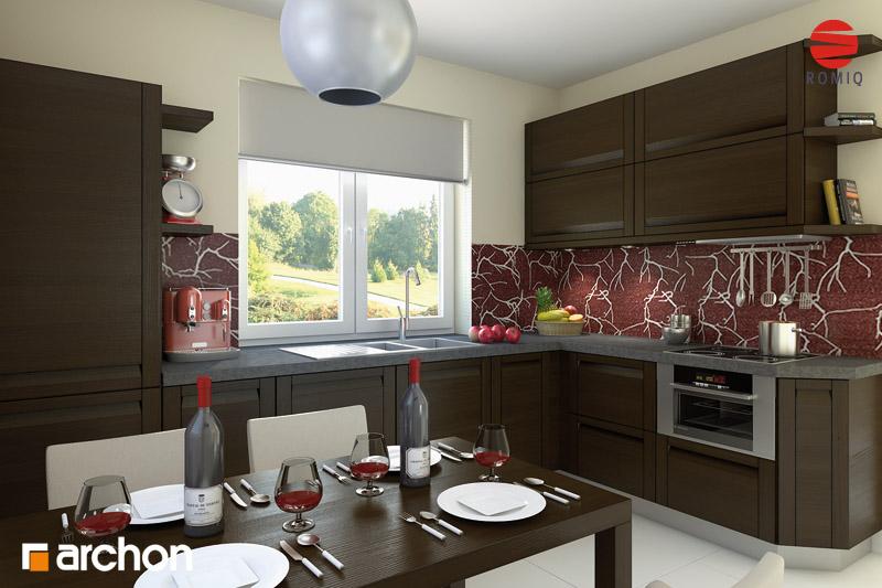 Проект дома ARCHON+ Дом под красной рябиной вер.2 визуализация кухни 1 вид 1