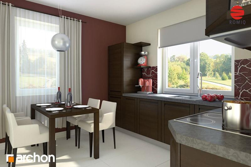Проект дома ARCHON+ Дом под красной рябиной вер.2 визуализация кухни 1 вид 2