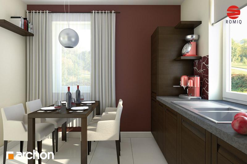 Проект дома ARCHON+ Дом под красной рябиной вер.2 визуализация кухни 1 вид 3