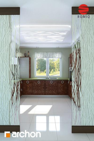 Проект дома ARCHON+ Дом под красной рябиной вер.2 визуализация кухни 2 вид 2