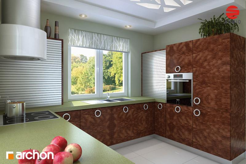 Проект дома ARCHON+ Дом под красной рябиной вер.2 визуализация кухни 2 вид 3