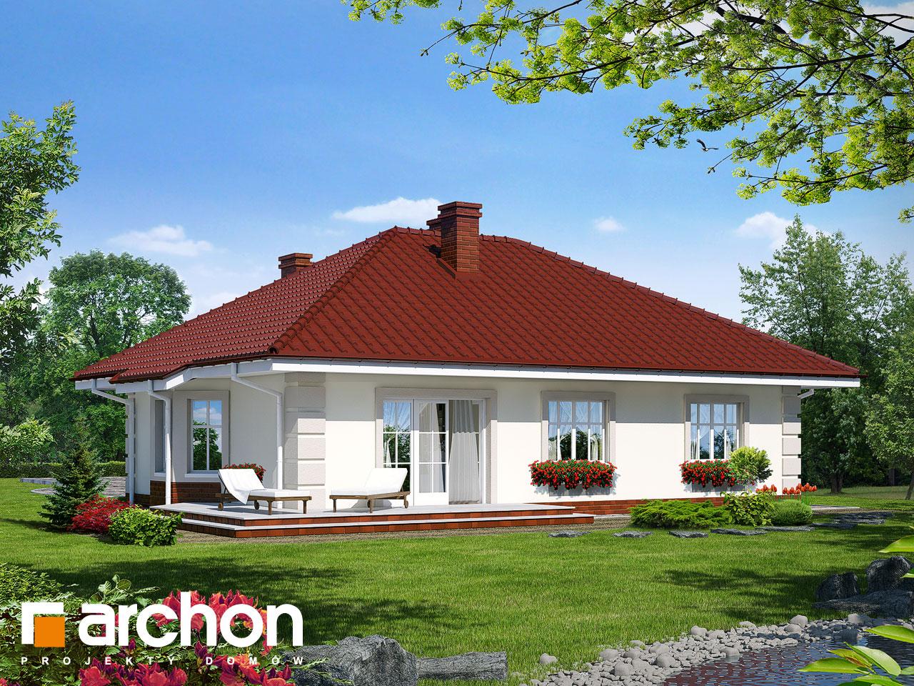 Проект дома ARCHON+ Дом под красной рябиной вер.2 Вид 2