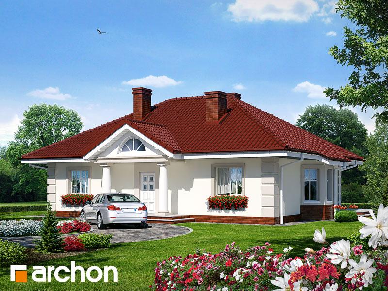 Проект дома ARCHON+ Дом под красной рябиной вер.2 Вид 1