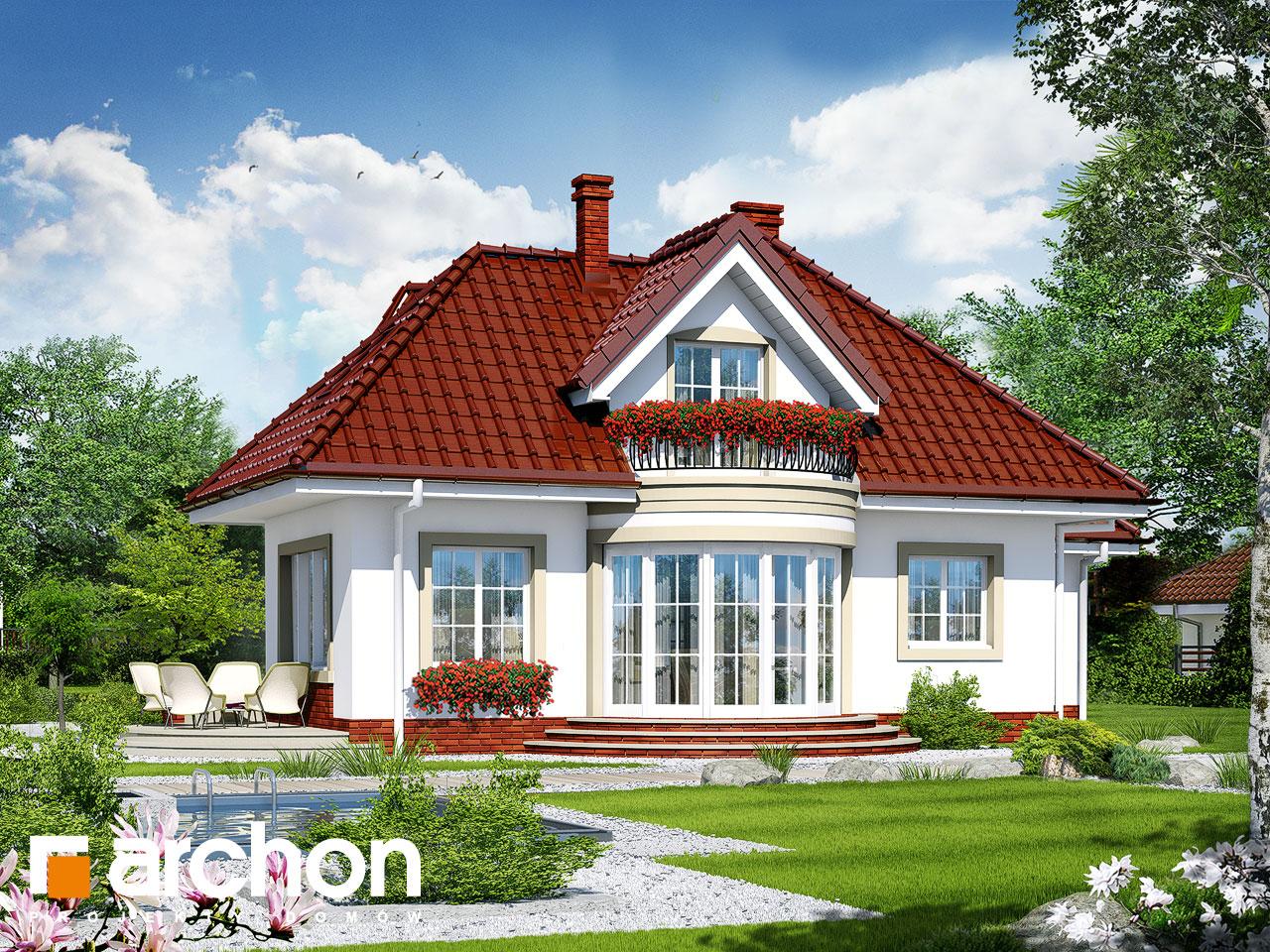 Проект будинку ARCHON+ Будинок в бересклеті Вид 2