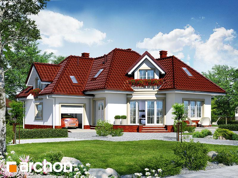 Проект будинку ARCHON+ Будинок в бересклеті Вид 1