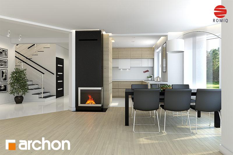 Проект дома ARCHON+ Дом в авокадо аранжировка кухни 1 вид 1