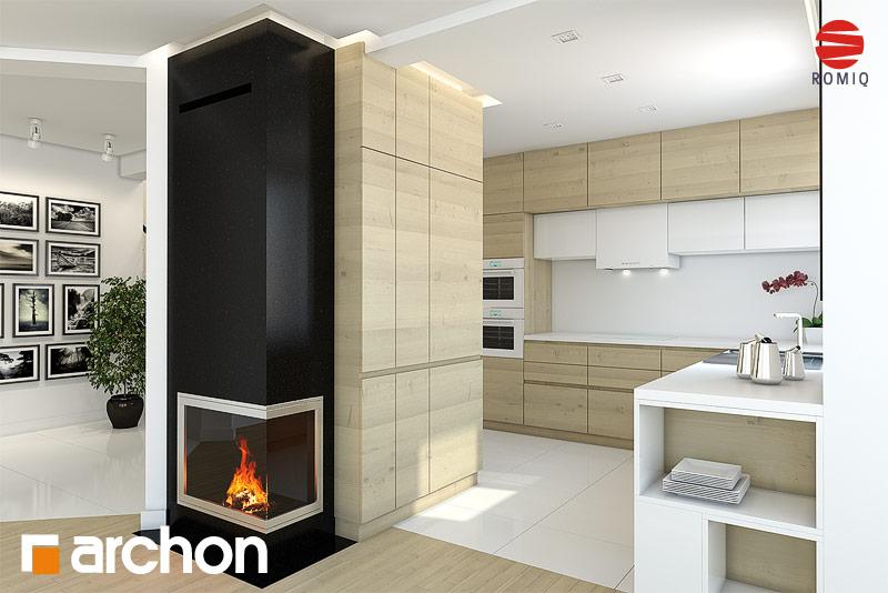 Проект дома ARCHON+ Дом в авокадо аранжировка кухни 1 вид 2