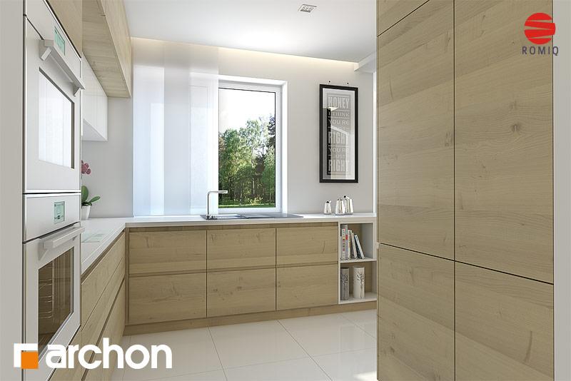 Проект дома ARCHON+ Дом в авокадо аранжировка кухни 1 вид 3