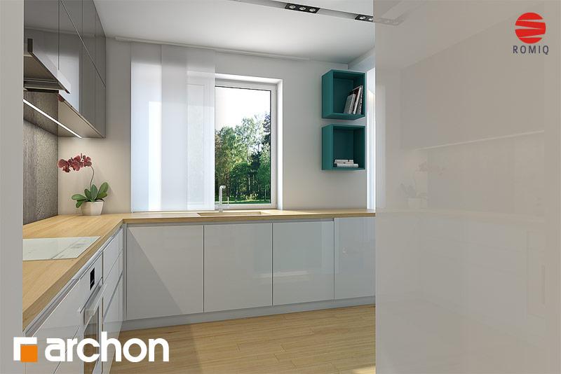 Проект дома ARCHON+ Дом в авокадо аранжировка кухни 2 вид 3