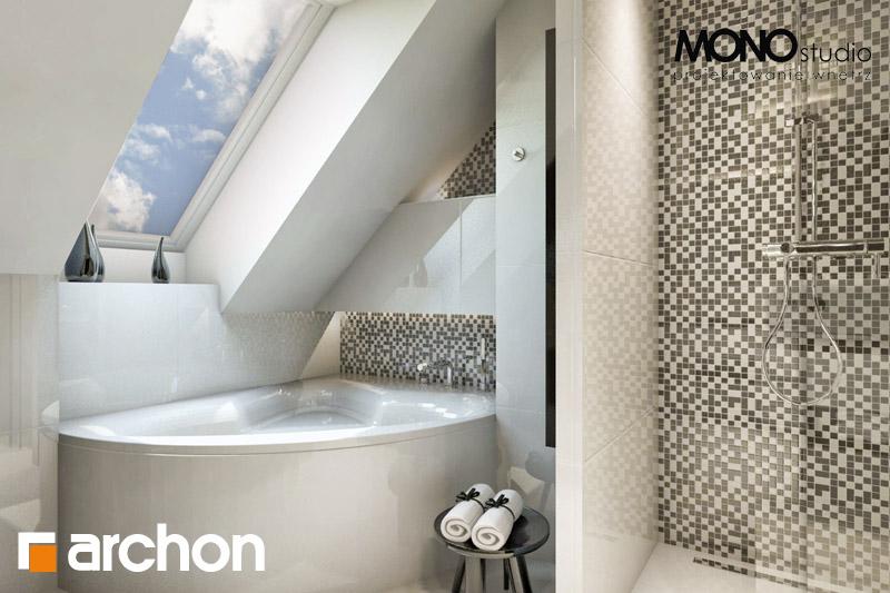 Проект дома ARCHON+ Дом в авокадо визуализация ванной (визуализация 1 вид 1)