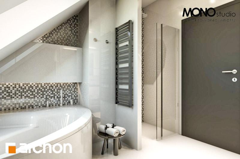 Проект дома ARCHON+ Дом в авокадо визуализация ванной (визуализация 1 вид 3)