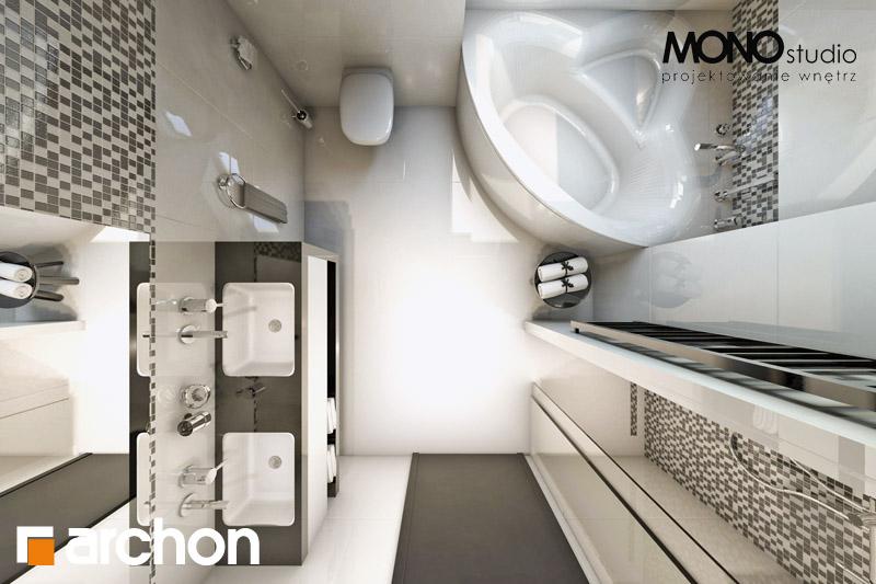 Проект дома ARCHON+ Дом в авокадо визуализация ванной (визуализация 1 вид 5)