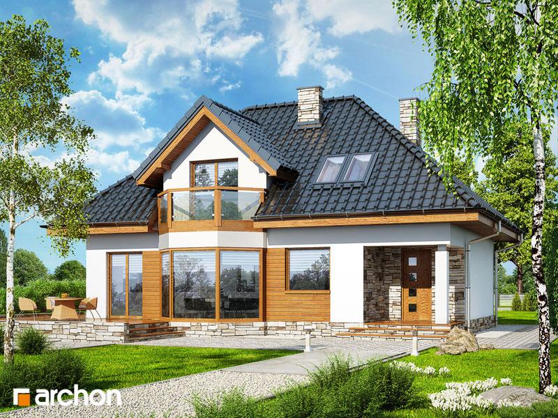 Проект дома ARCHON+ Дом в авокадо стилизация 3