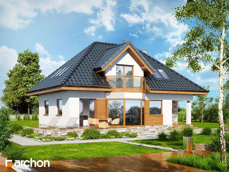 Проект дома ARCHON+ Дом в авокадо стилизация 4