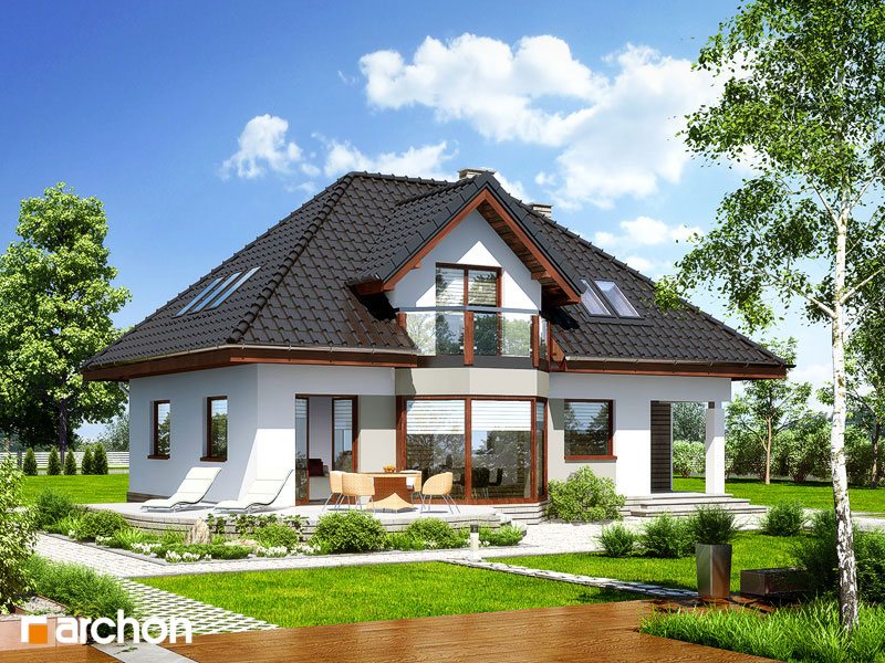 Проект дома ARCHON+ Дом в авокадо стилизация 6