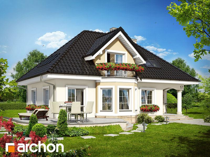 Проект дома ARCHON+ Дом в авокадо Вид 2