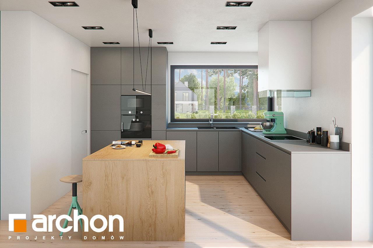 Проект будинку ARCHON+ Будинок в жимолості 2 (Г2) візуалізація кухні 1 від 1