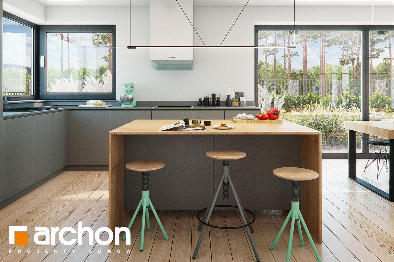 Проект будинку ARCHON+ Будинок в жимолості 2 (Г2) візуалізація кухні 1 від 2