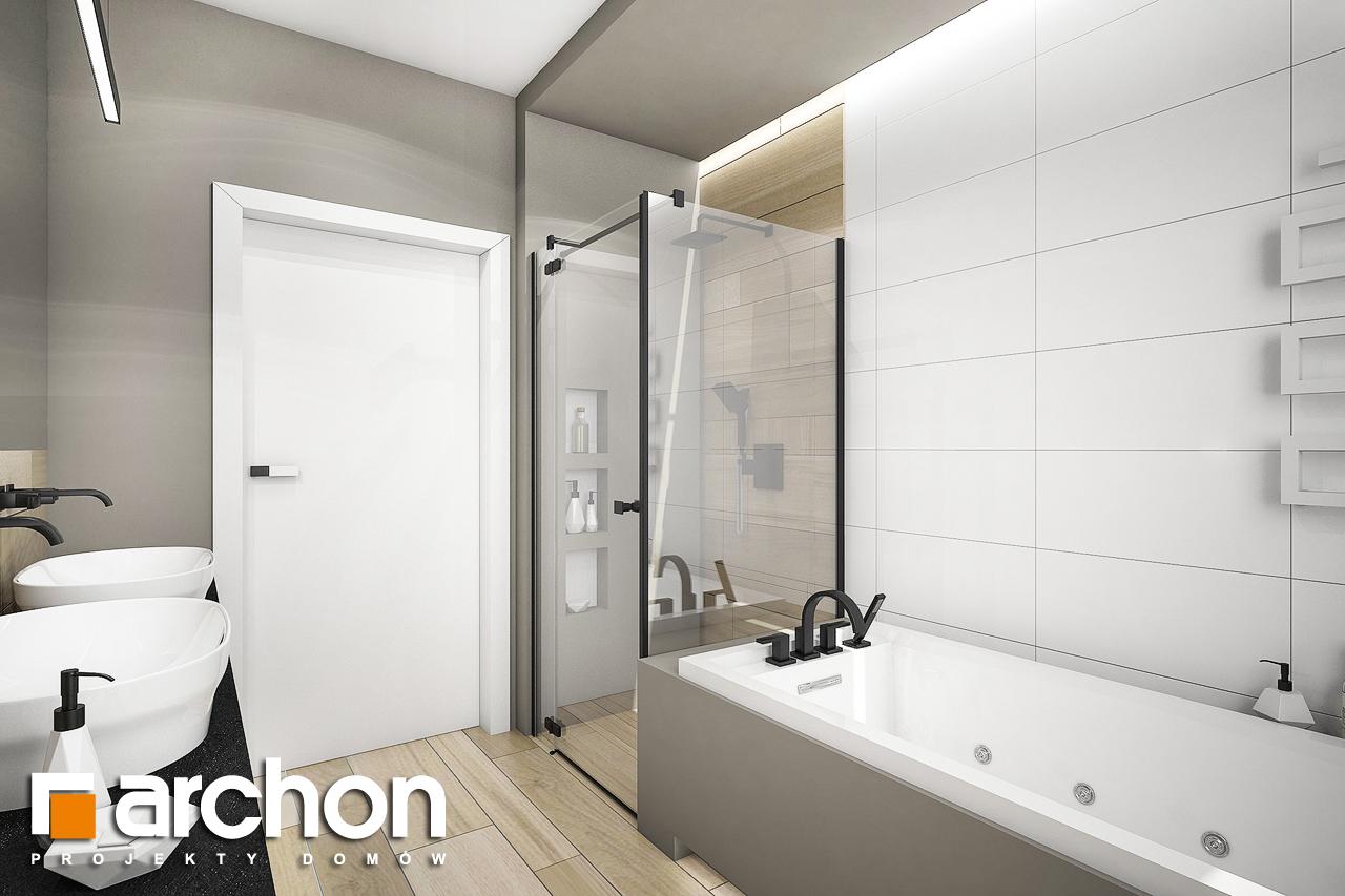 Проект будинку ARCHON+ Будинок в жимолості 2 (Г2) візуалізація ванни (візуалізація 3 від 2)