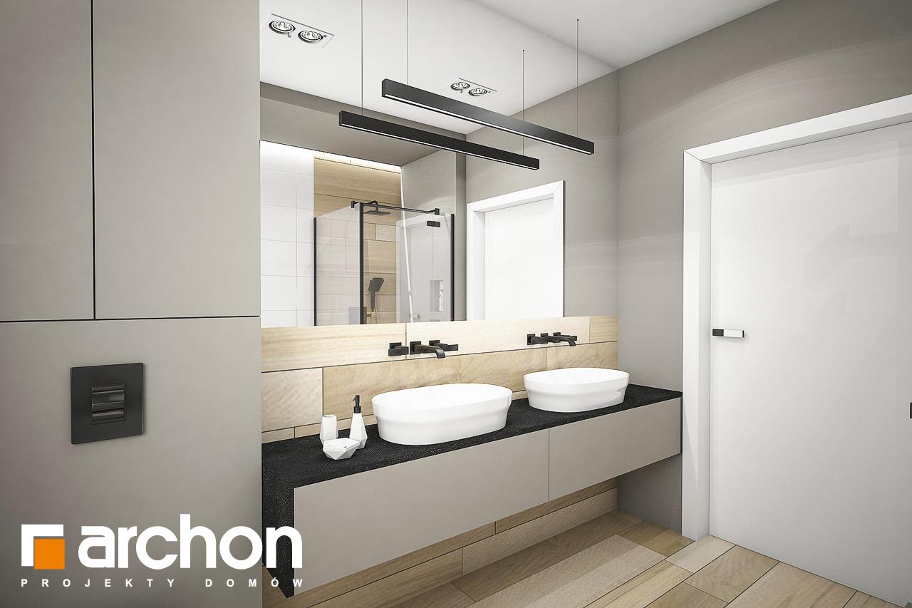 Проект будинку ARCHON+ Будинок в жимолості 2 (Г2) візуалізація ванни (візуалізація 3 від 3)