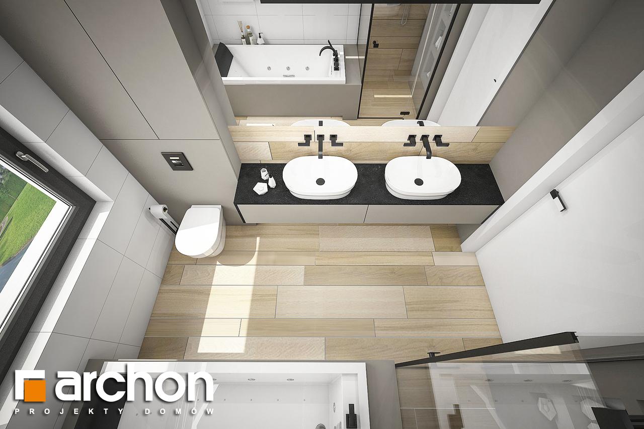 Проект будинку ARCHON+ Будинок в жимолості 2 (Г2) візуалізація ванни (візуалізація 3 від 4)