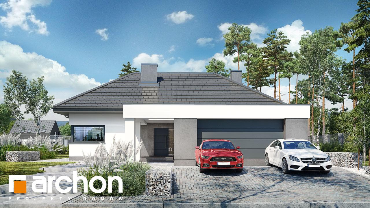 Проект будинку ARCHON+ Будинок в жимолості 2 (Г2) Вид 2