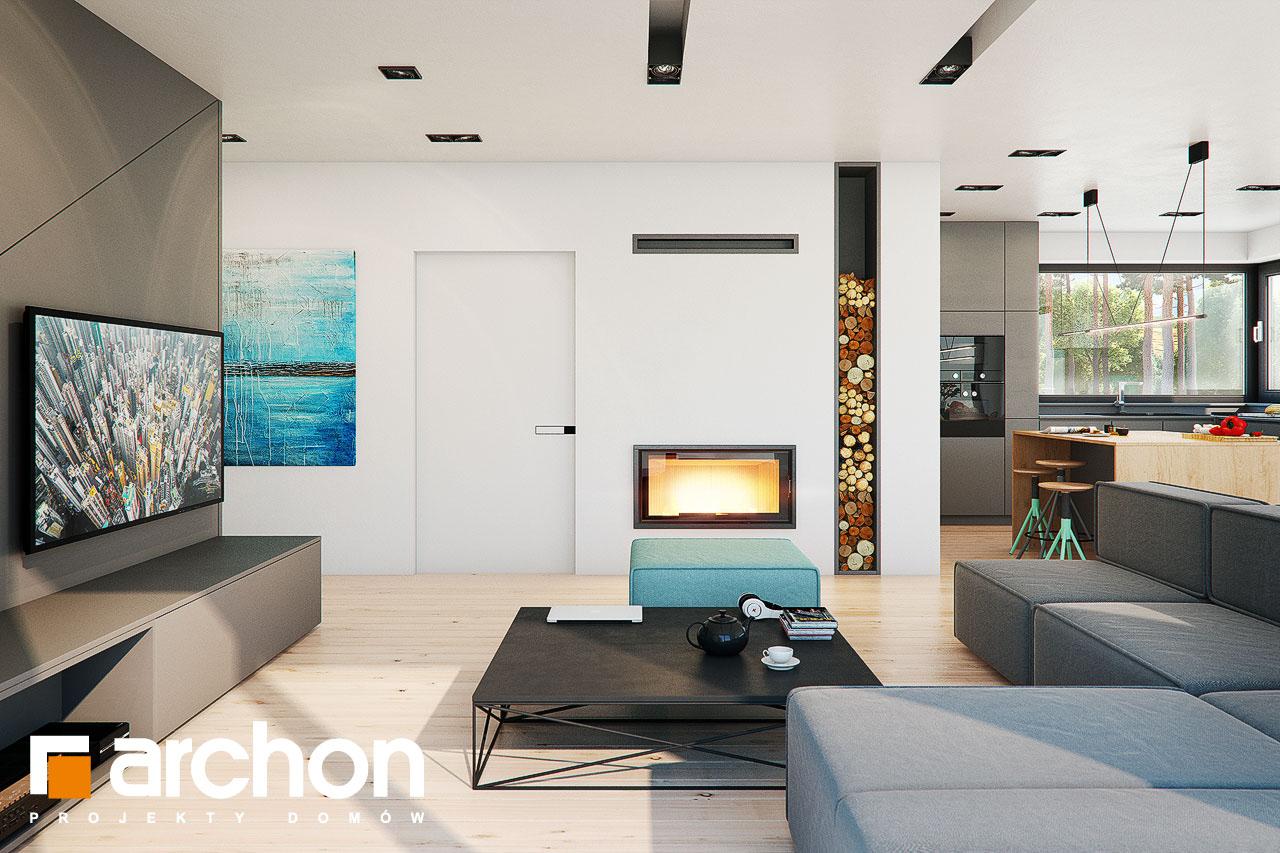 Проект будинку ARCHON+ Будинок в жимолості 2 (Г2) денна зона (візуалізація 1 від 2)