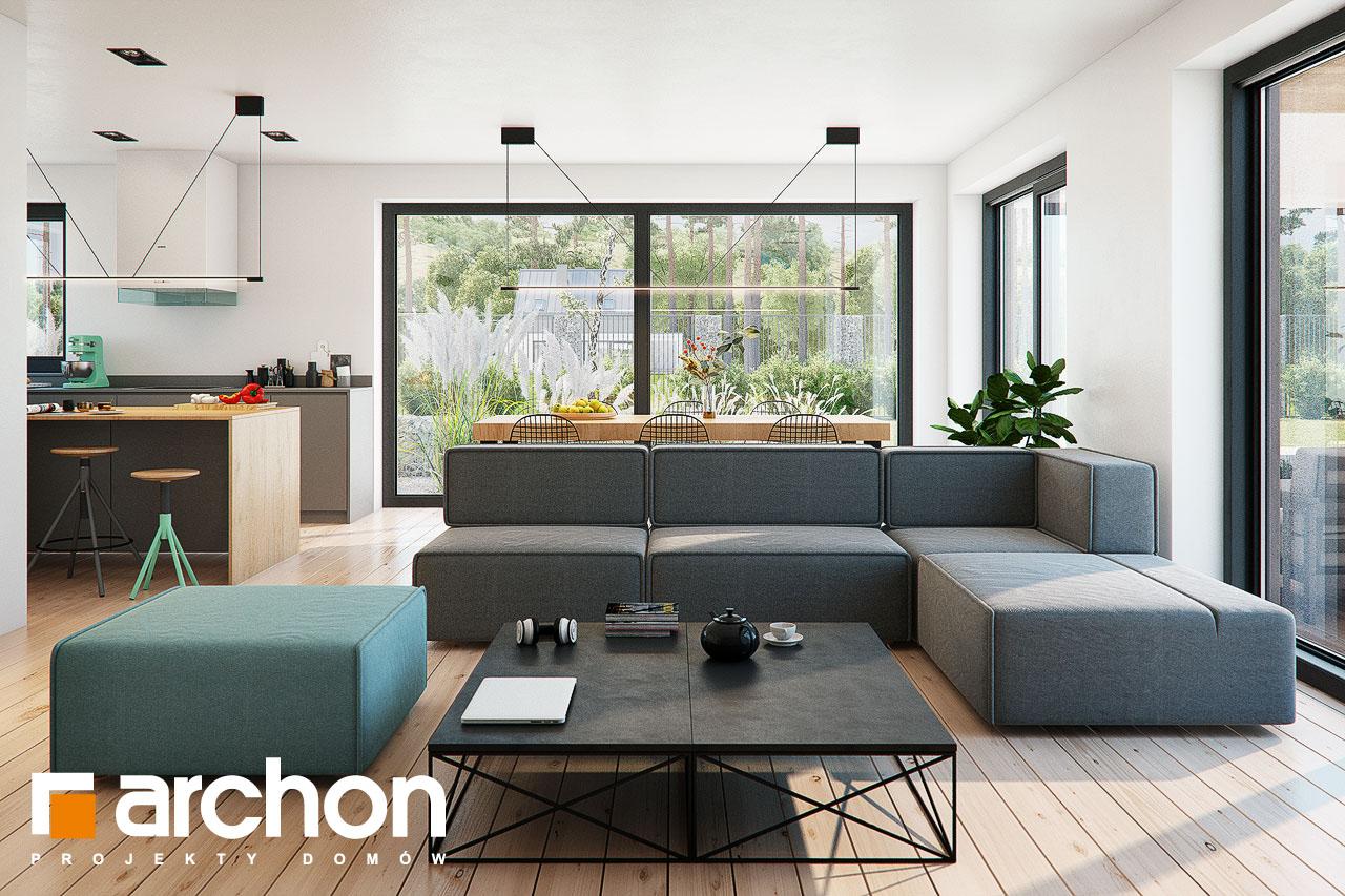 Проект будинку ARCHON+ Будинок в жимолості 2 (Г2) денна зона (візуалізація 1 від 3)