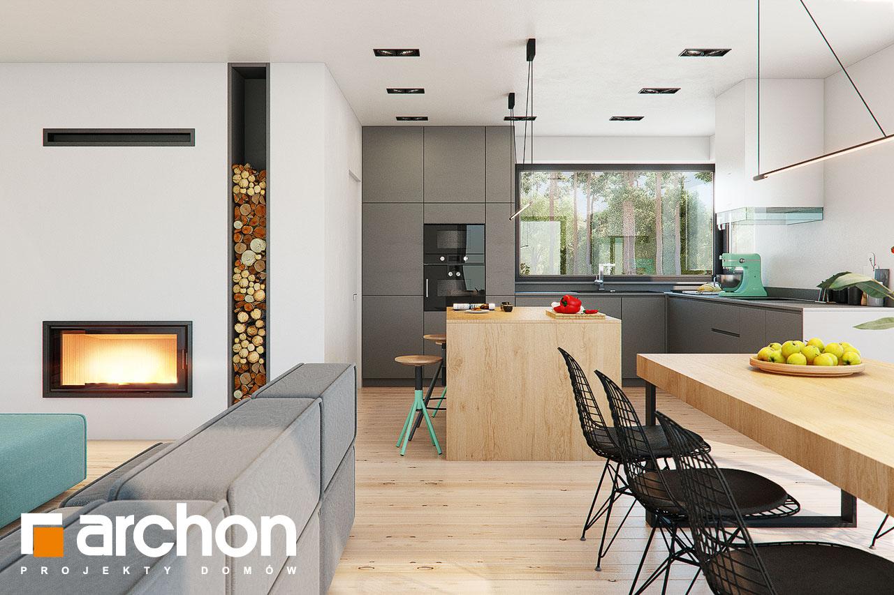 Проект будинку ARCHON+ Будинок в жимолості 2 (Г2) денна зона (візуалізація 1 від 5)