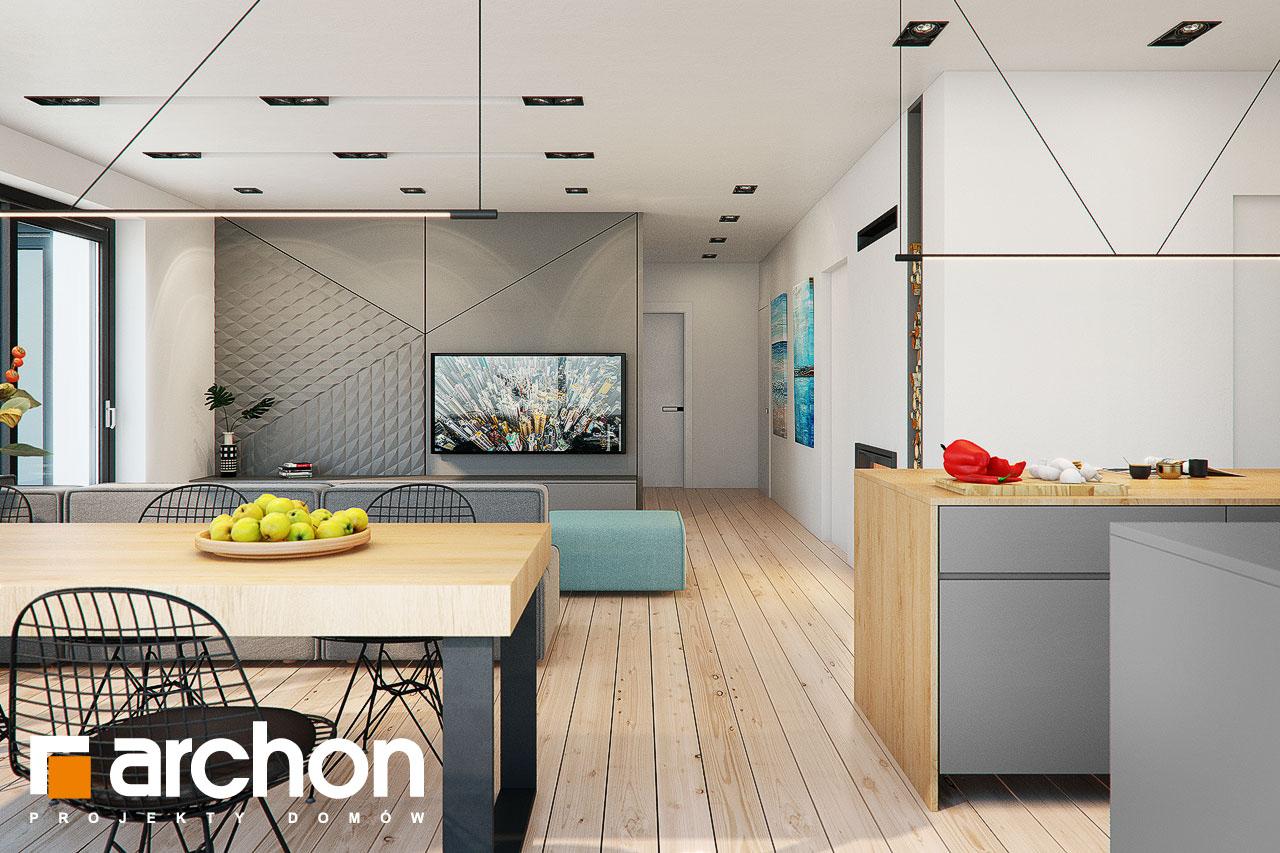 Проект будинку ARCHON+ Будинок в жимолості 2 (Г2) денна зона (візуалізація 1 від 6)