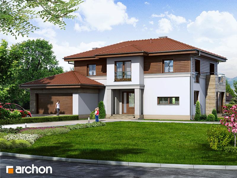 Проект дома ARCHON+ Вилла Александра стилизация 3