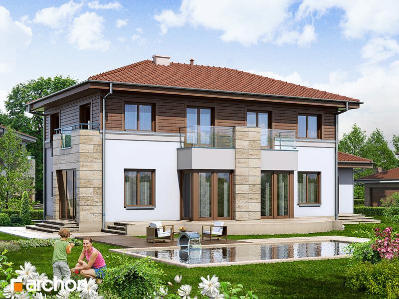 Проект дома ARCHON+ Вилла Александра стилизация 4