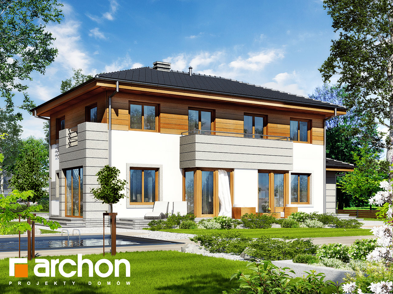 Проект дома ARCHON+ Вилла Александра Вид 2