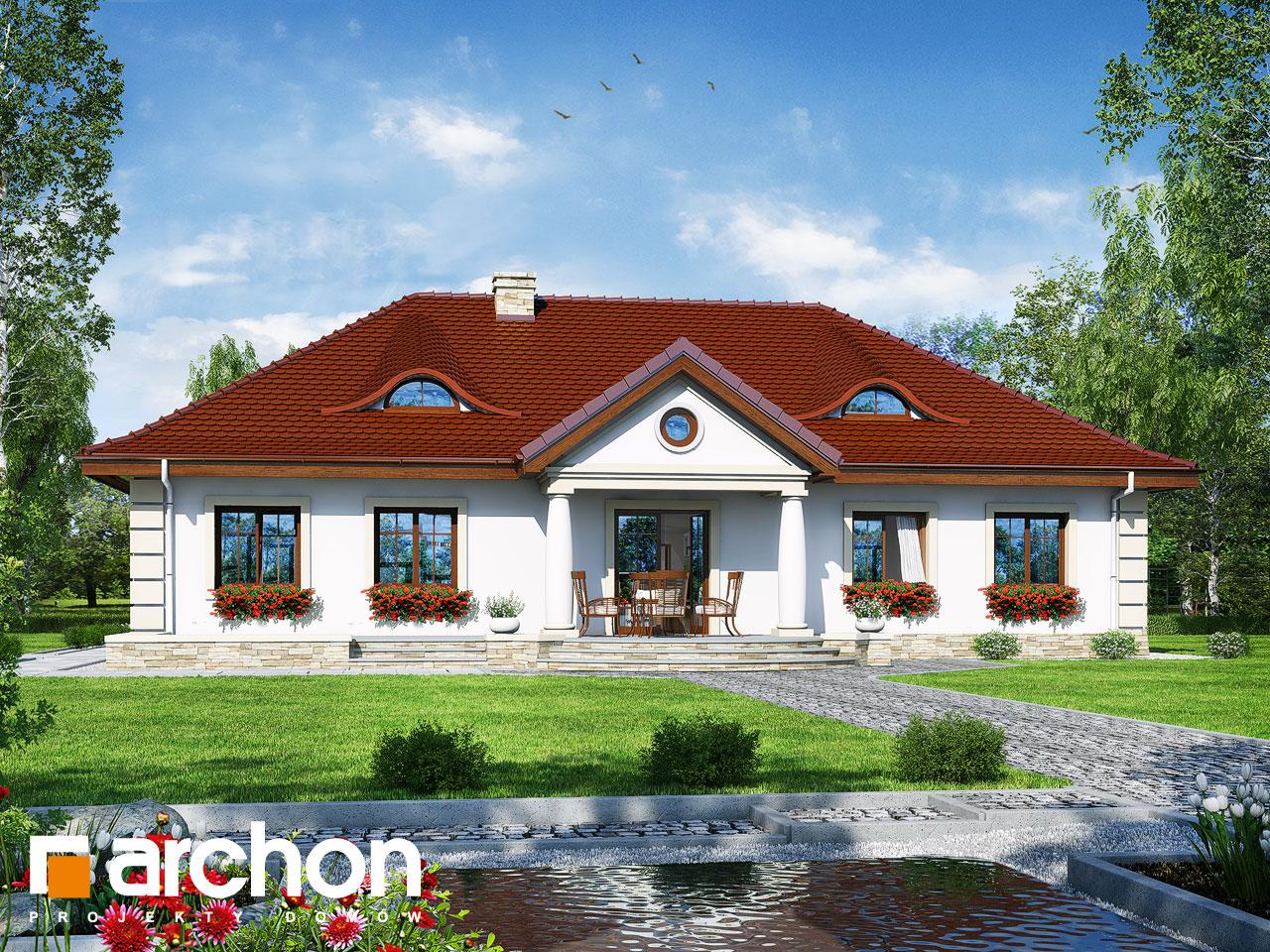 Проект будинку ARCHON+ Будинок під осикою  Вид 2