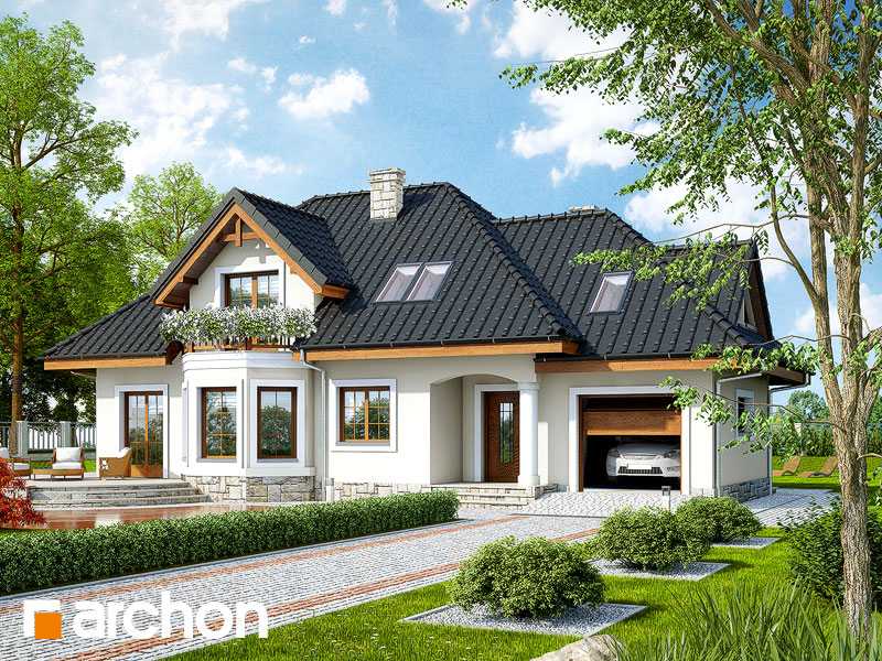 Проект будинку ARCHON+ Будинок в авокадо (Г) Вид 1