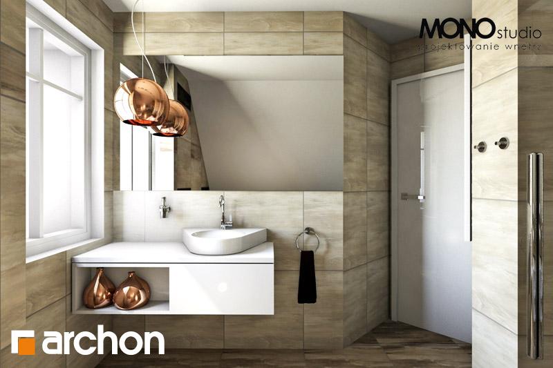 Проект дома ARCHON+ Дом в люцерне визуализация ванной (визуализация 1 вид 1)
