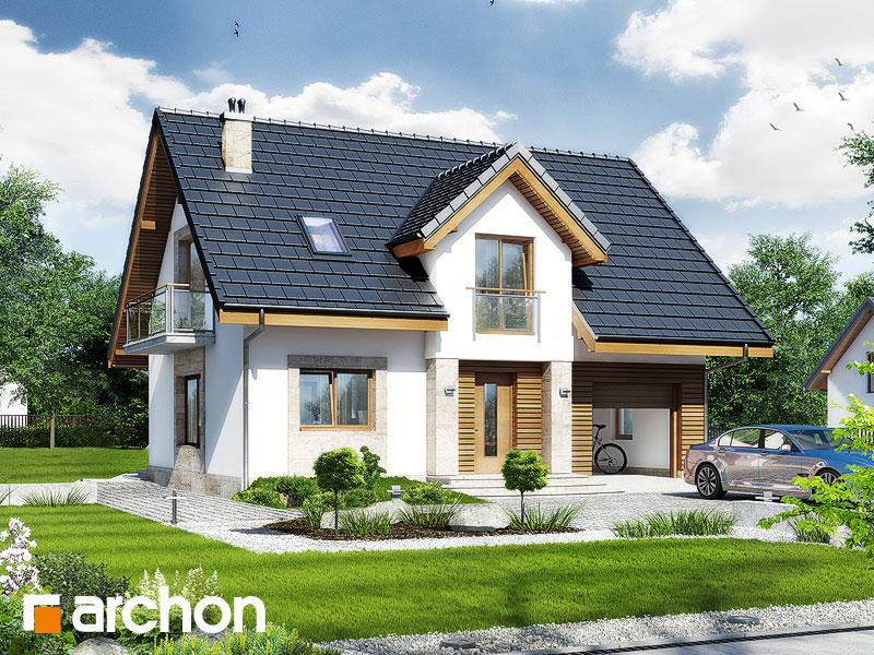 Проект дома ARCHON+ Дом в люцерне стилизация 3