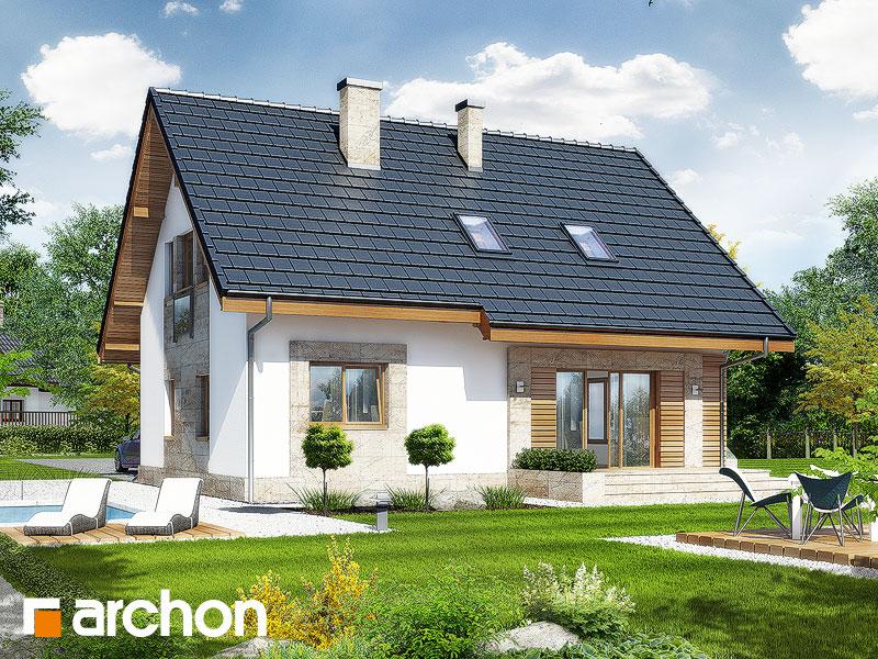 Проект дома ARCHON+ Дом в люцерне стилизация 4